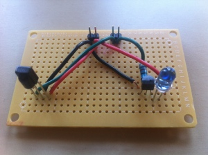 final soldered board for detecting and sending IR codes