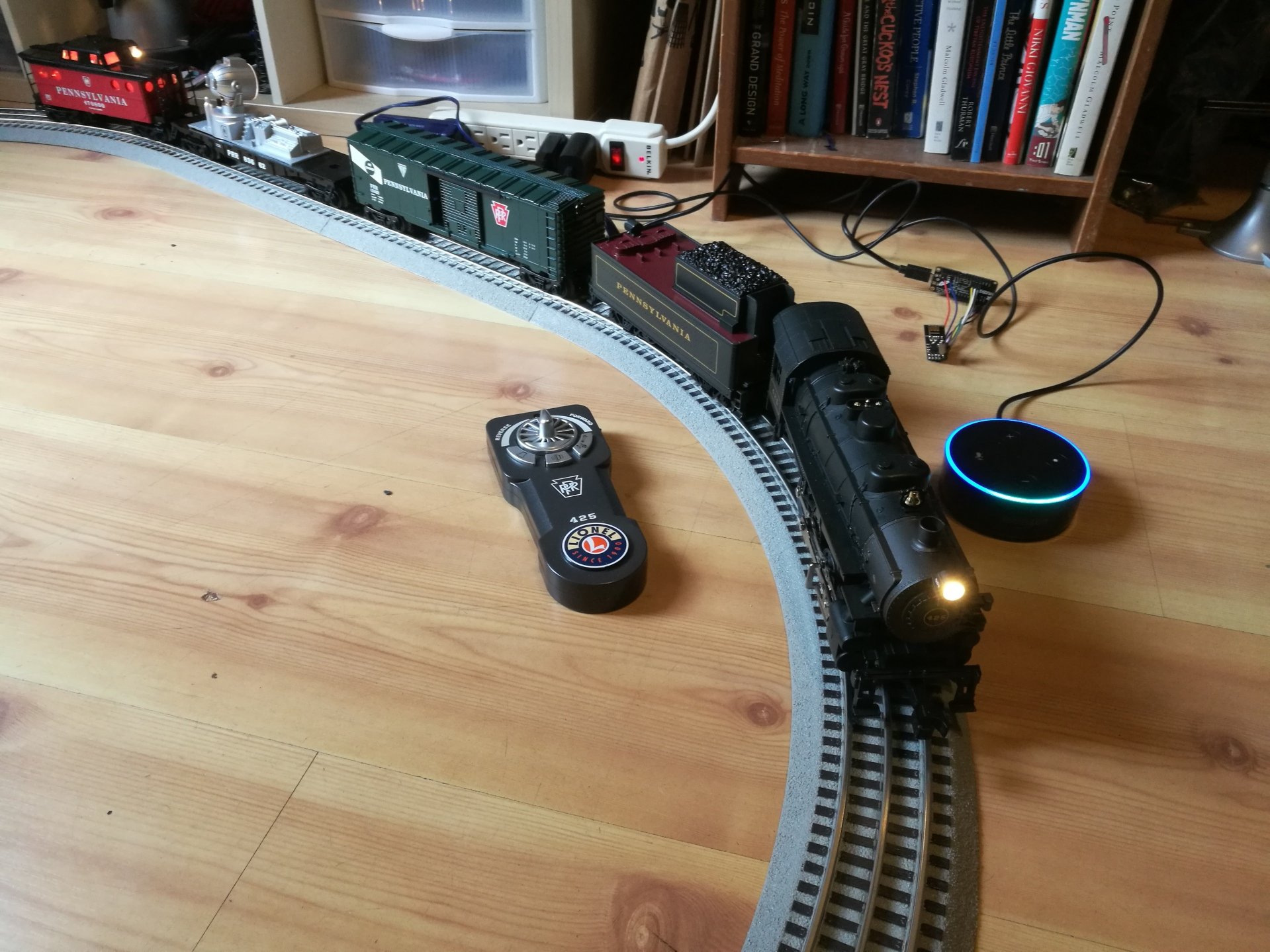 voice activated train in action