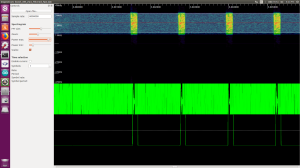 zoomed out display of RF signal