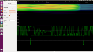 zoomed in display of RF signal