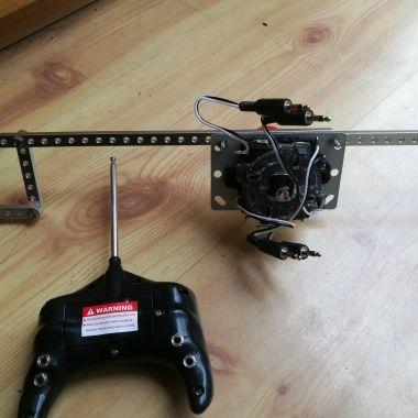 joystick setup and mount for motorized ride-on car toy