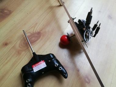 joystick setup for motorized ride-on car toy