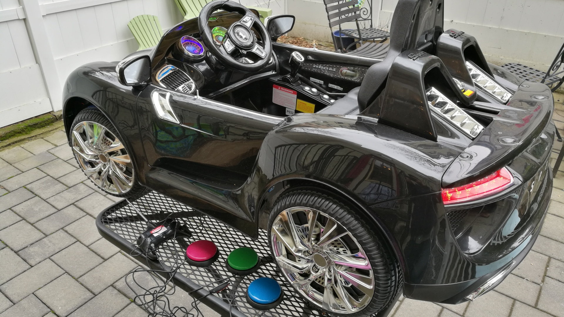 switch adapted motorized ride-on car toy