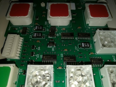 front of hospital bed pendant PCB