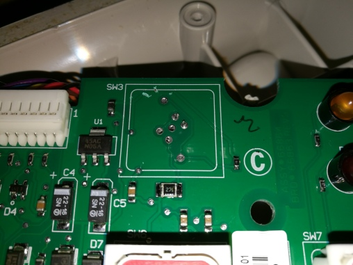 PCB footprint for button with built-in LED