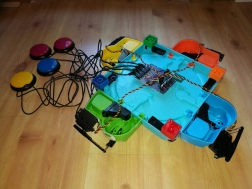 electronics for switch adapted Hungry Hippos