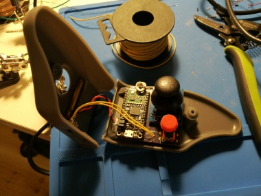 inside of remote control for Wild Thing