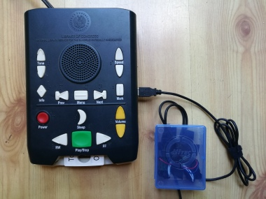 voice activated talking book player