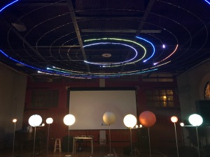 planet orbits animated with LED strips