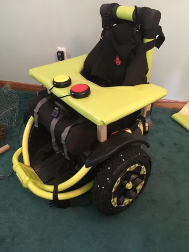 complete switch adapted Power Wheels Wild Thing with wheel and seat mods
