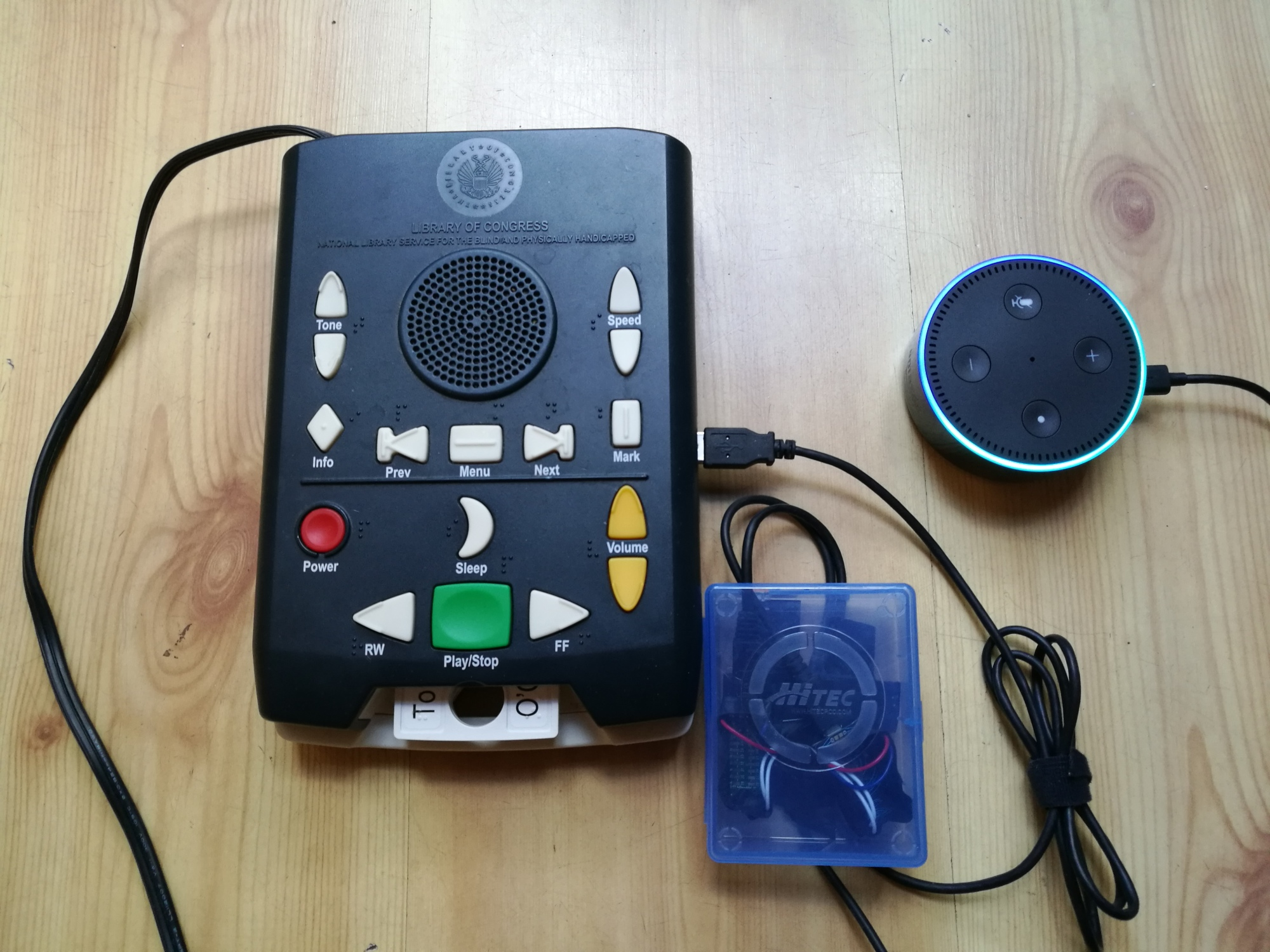 full voice activated talking book player setup