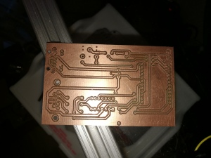 back of milled power wheelchair control PCB without components