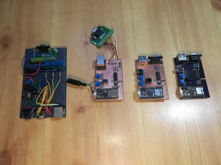 iterations of power wheelchair control PCB