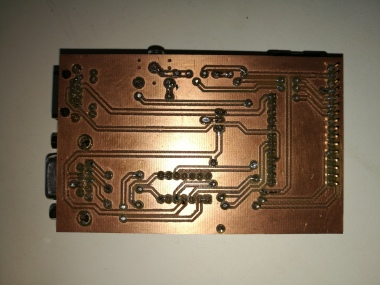 back side of power wheelchair control PCB