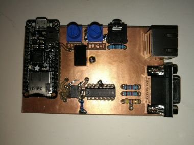 front side of power wheelchair control PCB