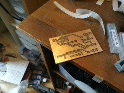 Slam Dunk PCB after milling