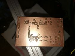 front of milled power wheelchair control PCB without components
