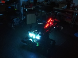 motorcycle LED strips on power wheelchair