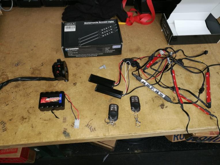 parts for LED strip lighting setup
