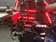 motorcycle LED strips as power wheelchair taillights